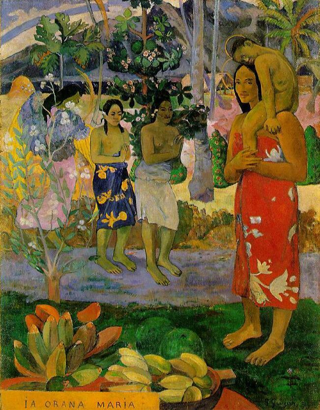 Reproducciones de lona de pintura al óleo de alta calidad Orana María (te deseamos María) (1891) pintado a mano por Paul Gauguin