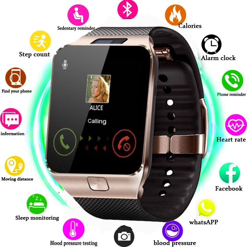 Smart Watch DZ09 Smart Clock Support TF SIM Camera Men Women Sport Bluetooth Wristwatch for sa m u ng wei XM Android Phone
