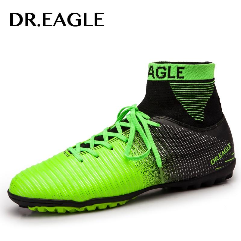 DR. ADLER indoor rasen/TF steigeisen hohe ankle futsal fußball stiefel turnschuhe fußball schuhe kinder schuh stollen jungen schuhe männer socke