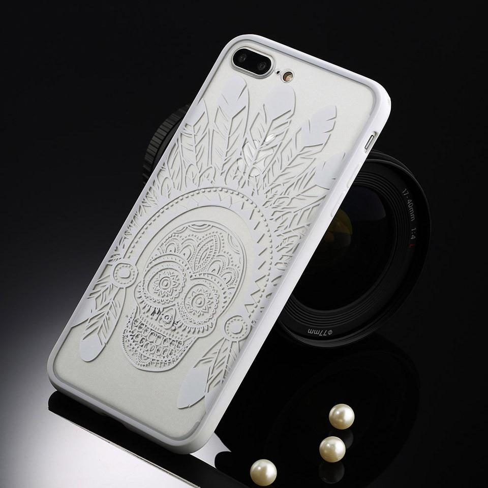 Sexy retro floral phone case dla apple iphone 7 6 6 s 5 5S SE Plus Koronki Kwiat Dysk PC + TPU Przypadki Back Cover Capa Dla iPhone7Plus 19