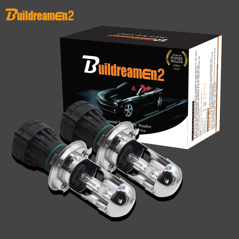 Buildreamen2 55W Bi Xenon H4 Hi/Lo bombilla de doble haz 12V faro de coche luz HID arnés controlador relé de Cable 3000K-12000K