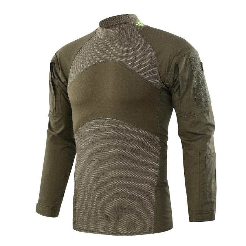 Nueva Camiseta deportiva de camuflaje de manga larga para hombre, camisetas informales ajustadas, camiseta elástica, ropa táctica militar para hombre