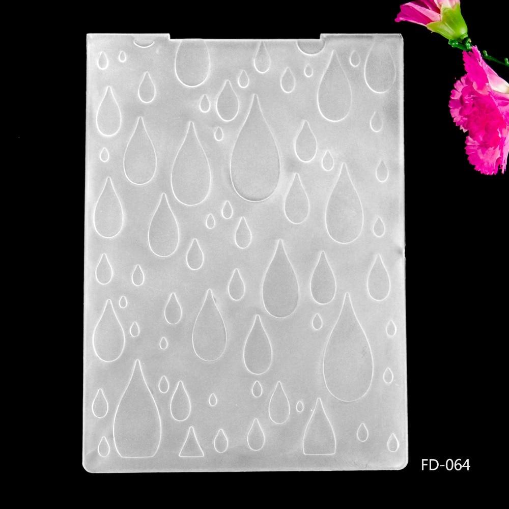 2019 New Arrival Scrapbook Water Drops Design DIY Paper Cutting Dies Scrapbooking Plastic Embossing Folder