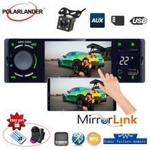 Lecteur multimédia de voiture   bluetooth, USB TF, affichage de la température, écran tactile 1 Din, Autoradio, MP5