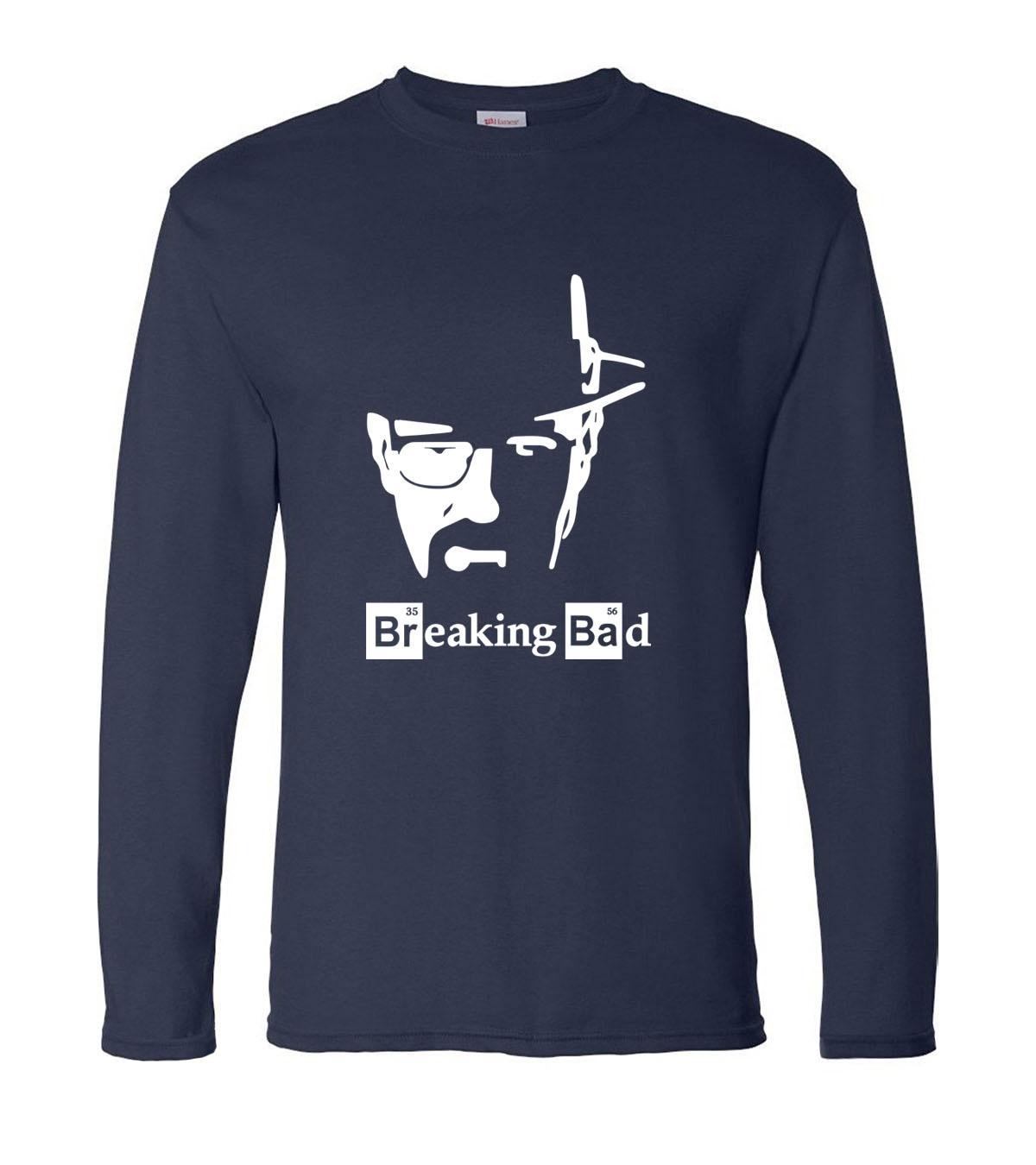 Camiseta de manga larga para hombre de Breaking Bad Heisenberg, Camiseta de algodón para hombre de primavera 100% 2019