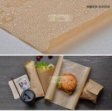 Papier Kraft brun PE de boulangerie   Lot de 50, 39*54cm, résistant aux graisses, emballage du pain, Biscuit chocolat, huile, emballage de fête