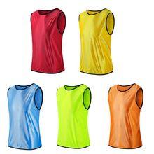 Sans manches Football formation équipe gilet Football maillots sport chemises adultes respirant pour hommes femmes basket-ball regroupement