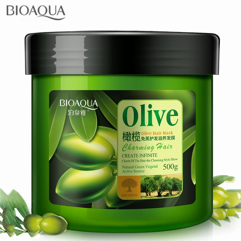 Olive Hair Mask 500ml Hair Treatment Nutrition Hair Care Collagen Soft Conditioner Moisturizing Deep Repair Hair Split Ends Dry