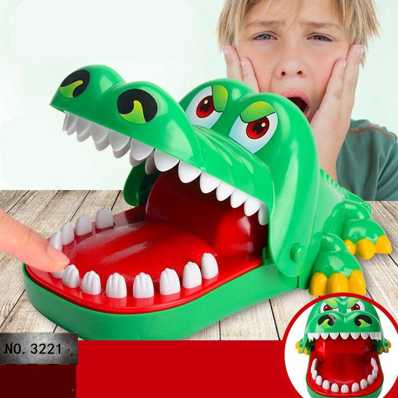Большой крокодил Рот дантист кусание пальцев игра смешная Новинка кляп игрушка для детей
