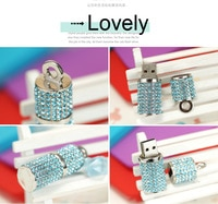 Jewelry USB 2.0 Pendrive Pen Drive Usb Flash Drive 128GB 64GB 32GB 16GB 8GB Creativo Pendrives Girls Gift Presentes