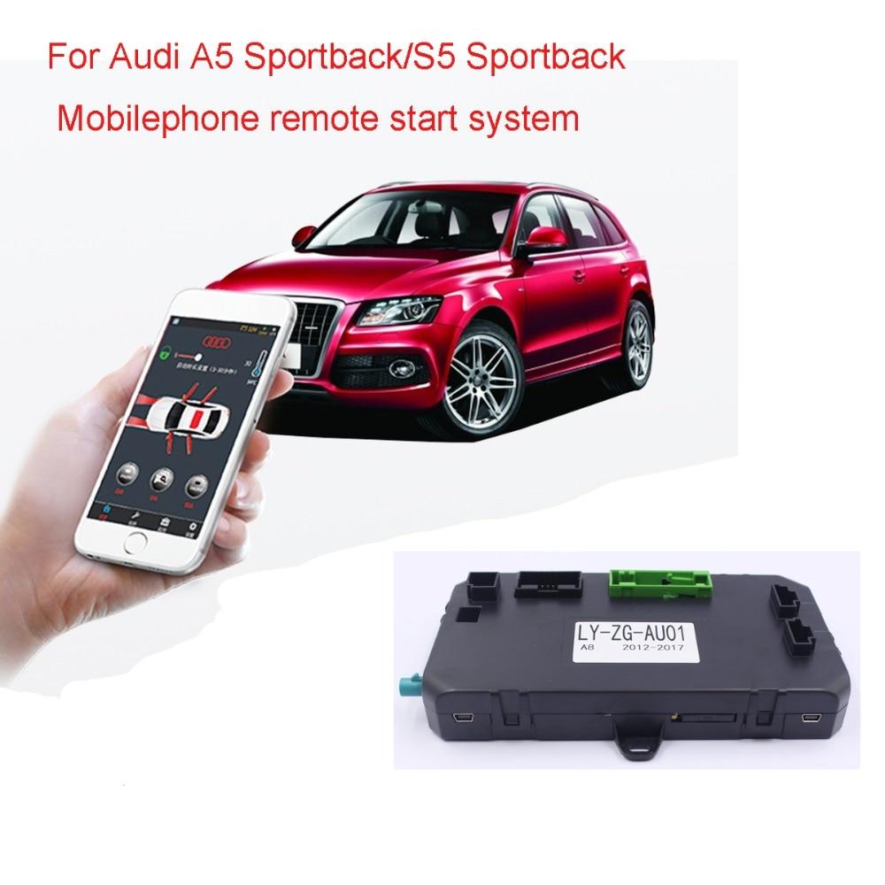 For Audi A5 Sportback/S5 Sportback PKE Keyless Entry Car Engine Ignition Starter One Push Button Start System(year 2009-2014.12)