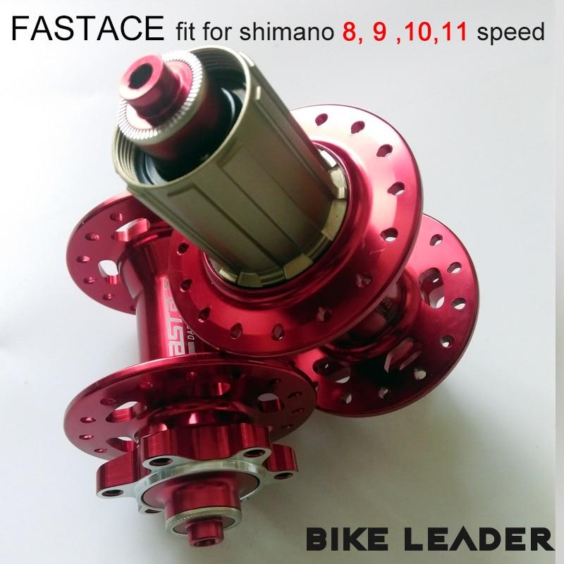 Fastace DA201 alta calidad cojinete sellado freno de disco 24 28 32 agujeros MTB bicicleta de montaña bubs Rojo Negro 8 9 10 11 velocidad bicicleta Hub