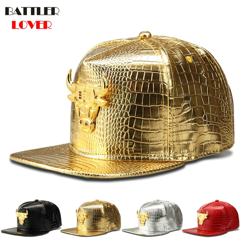 Бейсболка Bull для мужчин, кожаная кепка с текстурой крокодила для диджея, танцев, уличного танца, хип-хоп, бейсболки
