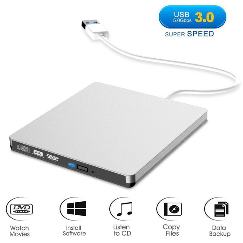 USB 3,0 Unidad óptica móvil, grabador de dvd, portátil externo para notebook, windows 10, unidad de disco óptico portátil, grabador de dvd externo