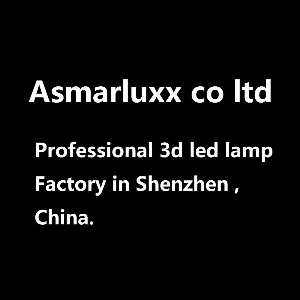 Enlace especial de lámpara LED 3D para un amigo del Reino Unido