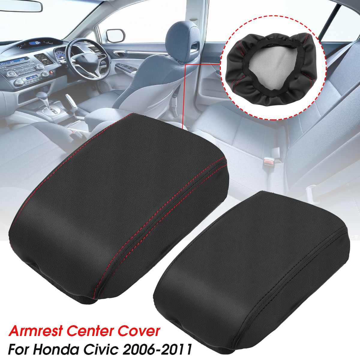 Автомобильный подлокотник из искусственной кожи, чехлы для центральной консоли, чехлы для Honda/Civic 8th Gen 2006 2007 2008 2009 2011
