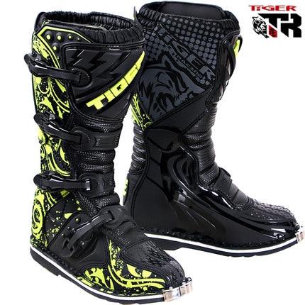 Men size 6-13 Waterproof Plus Size Microfiber leather stivali moto enduro MId-calf Male Shoes moto Ktm Motorcycle boots Shoes
