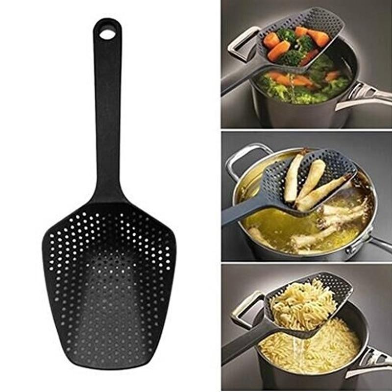 Нейлоновое сито, большой совок, дуршлаг, кухонные приборы, ложка-Лопатка, суповая ложка, фильтр, инструменты для приготовления пищи, аксессуары для дома и кухни