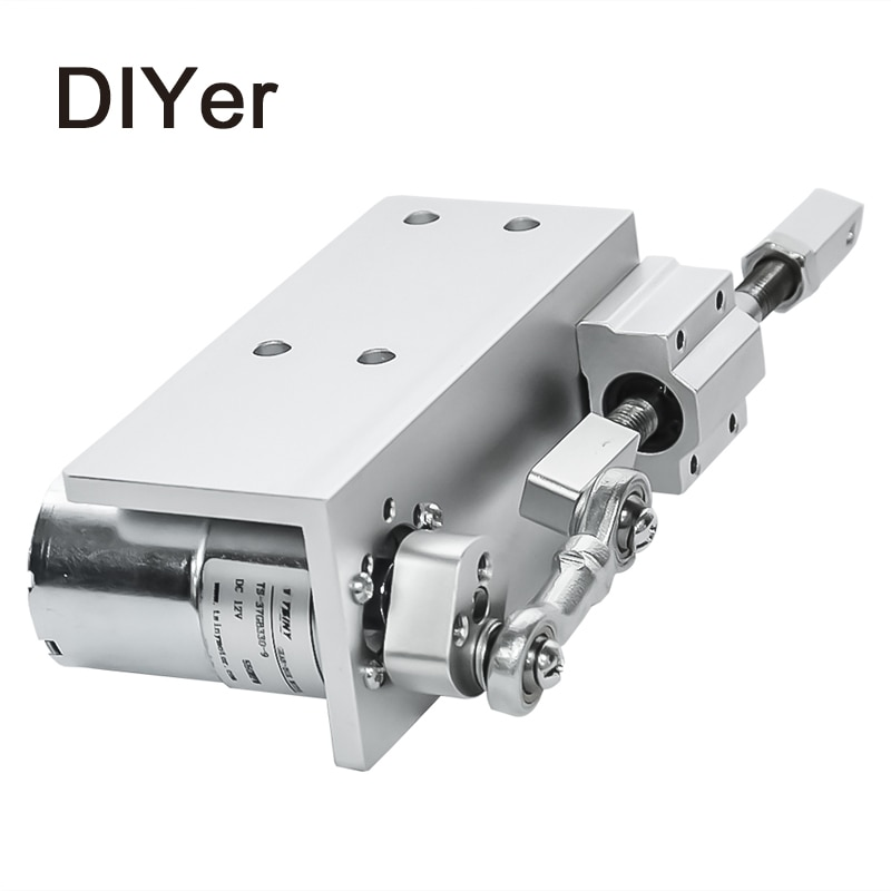 330DIY Design Linear Actuator 12V 24V Reciprocating Cycle Mini DC Gear Motor 12/24V 20mm Stroke Linear Actuator For Sex Machine 30mm 40mm 50mm stroke micro mini precision screw linear stepper motor dc 5v 2 phase 4 wire linear actuator