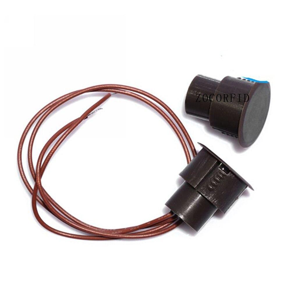 Livraison gratuite (10 paires) interrupteur magnétique filaire alarme ouverte de porte installation dissimulée sortie de type NC Ma