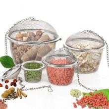 New Durable Silver Reusable Stainless Mesh Herbal Ball Tea Spice Strainer Teakettle Locking Tea Filter Infuser Spice 3 Sizes