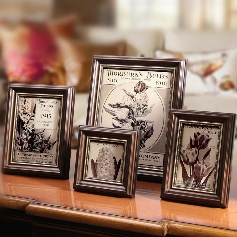 1 peça quadro de imagem clássico, moldura de foto do vintage, quadros para decoração de casa, suporte de foto no desktop, porta retrato,moldura