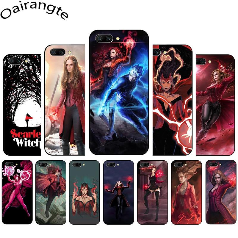 Scarlet Witch Avengers x-men funda de teléfono de silicona suave para Huawei Honor 6A 7A Pro 7C 7X 8C 8X 8 9 10 Lite view 20 9X Pro