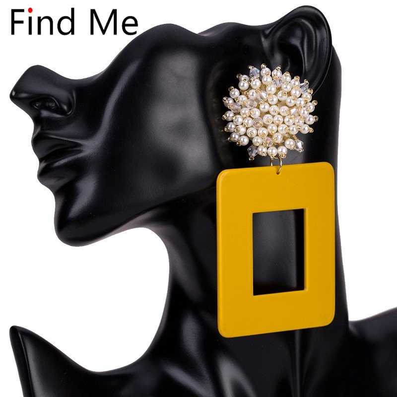 Find Me 2020, Pendientes colgantes con personalidad bohemia de lujo a la moda, Pendientes de gota geométricos de tablones Vintage para mujeres, joyería al por mayor