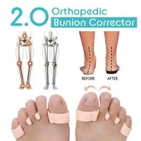 1pair unisex feet orthopedic bunion corrector overlapping toes separator protector feet care tools