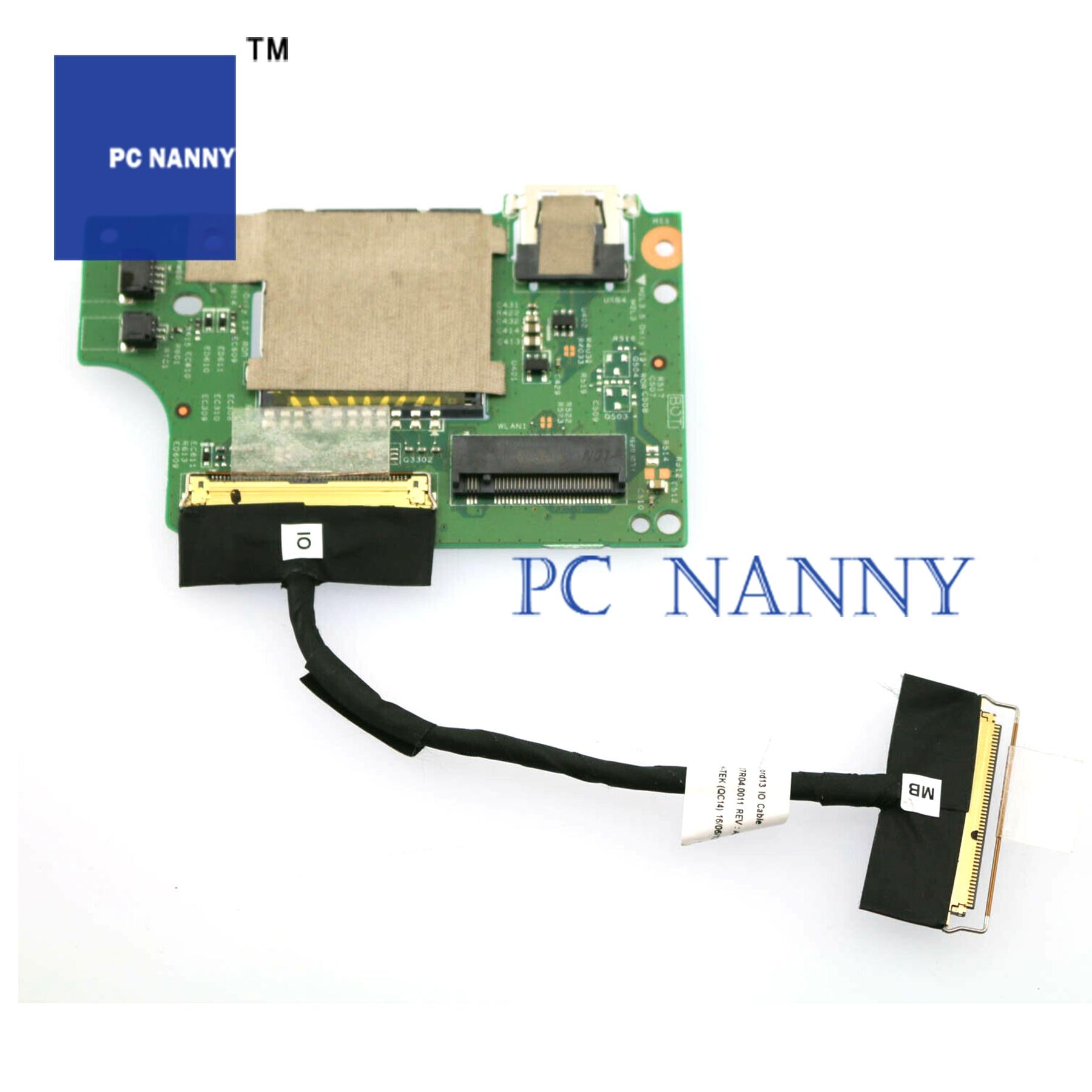 13 PCNANNY PARA Dell Inspiron 3379 7368 7378 7569 7579 7779 Leitor de Cartão USB Board w/Cabo y7tgp teste bom