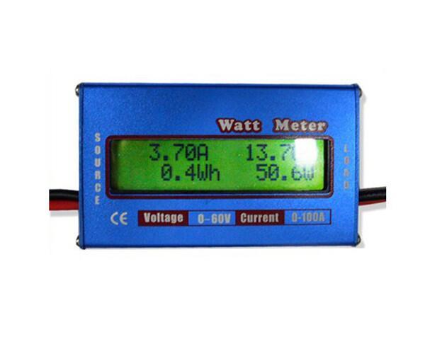 5 шт./компл. DC 60V 100A RC Ватт метр Баланс напряжения батареи анализатор мощности измерения энергии проверка Синий Бесплатная доставка