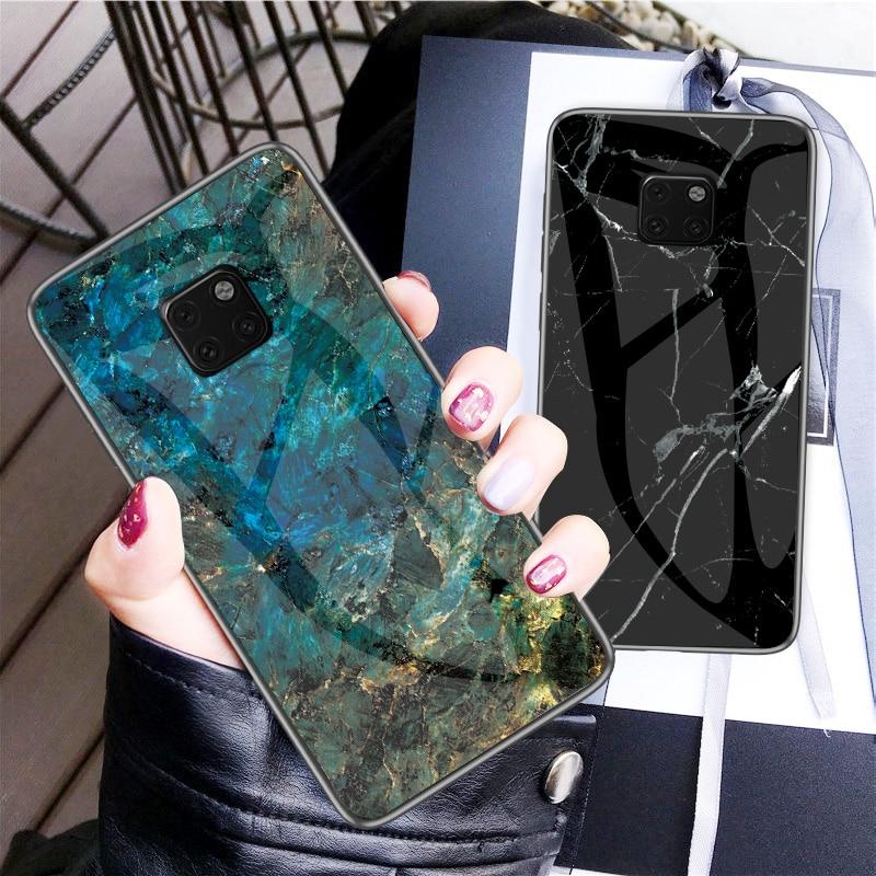 Для Huawei Mate 20 Pro 20X Fundas роскошный высококачественный мраморный чехол из закаленного стекла для Huawei Mate 20 Lite Maimang 7 Жесткий Чехол