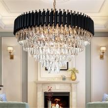 Nuovo Arrivo Lampadario di Cristallo Moderna di Buona Qualità Rotondo Appeso lustro Elegante K9 di Cristallo Lampada A Sospensione per soggiorno Foyer