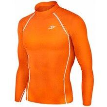 Nouvelle prime Take Five hommes Compression sous couche de Base haut serré manches longues chemises 137 Orange