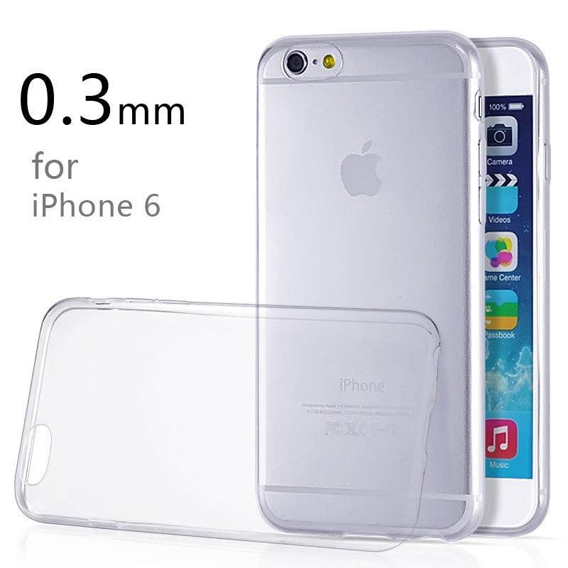 "Funda JAVY para iPhone 6 6s 4,7 ""Ultra delgada 0,3mm transparente suave funda de teléfono móvil TPU"