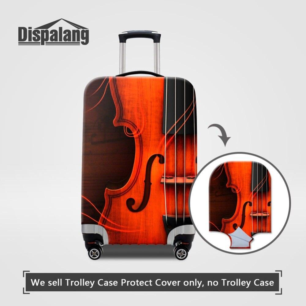 Dispalang 3D скрипка толстые эластичные багажные Защитные чехлы для 18-32 дюймов Чехол Эластичный моющийся пылезащитный чехол для чемодана от дожд...