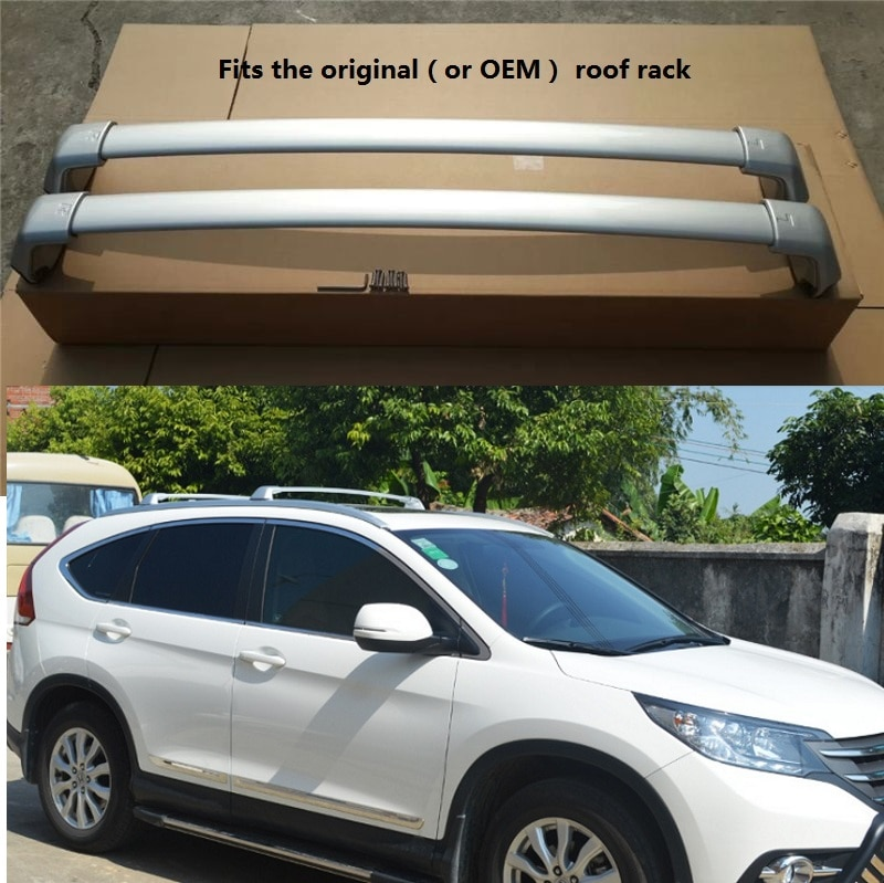 Aluminio para HONDA CRV CR-V 2012 2013 2014 2015 2016, estante para techo, riel para equipaje, barra cruzada para equipaje
