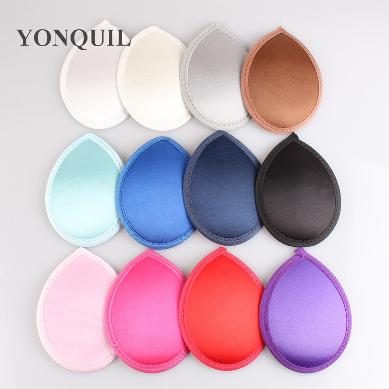 "5.2""(13CM 12 colors satin fabric mini top fascinator hats teardrop fascinator bases DIY hair accessories 36pieces/lot Free ship"