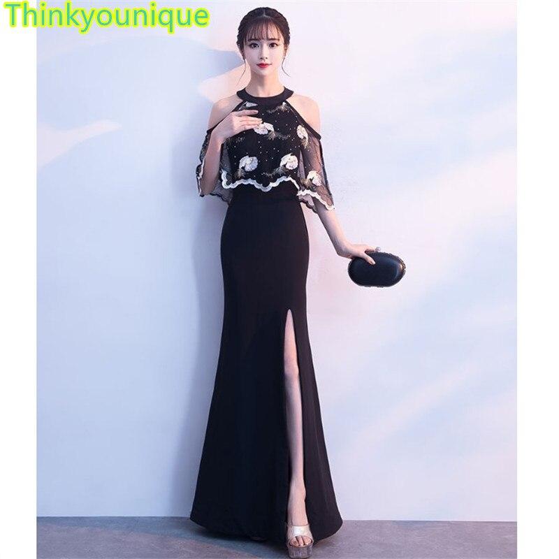 Vestido de fiesta negro Formal largo vestidos de noche vestido de fiesta...