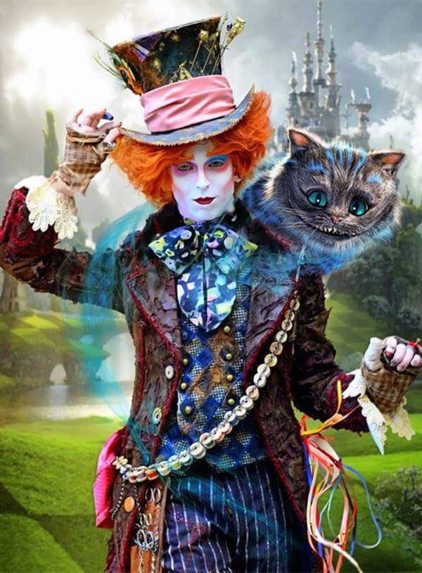 5D Diy Diamond Painting Alice In Wonderland Full Square Diamond Embroidery Cross Stitch Love The Cheshire Cat Needlework Gift