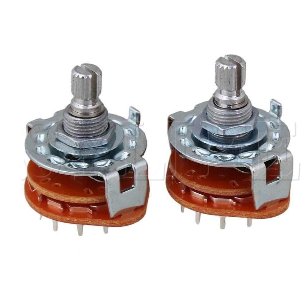 2 uds 6Way amplificador de guitarra interruptor giratorio para cableado personalizado