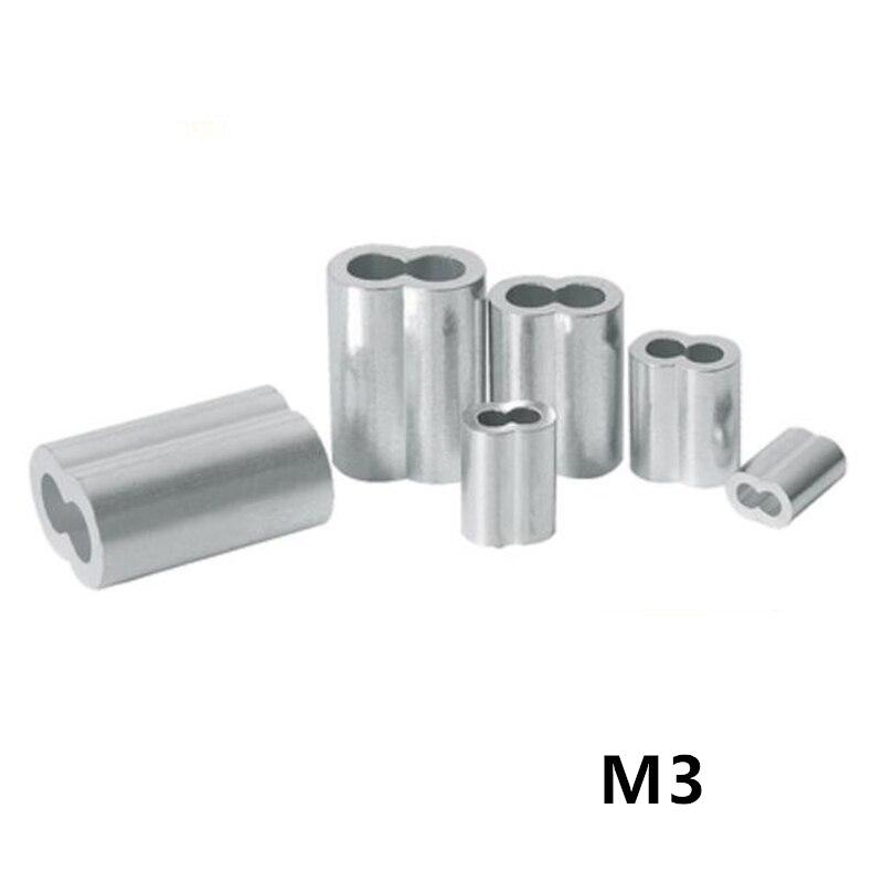 100 шт. 3 мм M3 рукава алюминиевые овальные двойные отверстия 8 формы наконечники для обжимных проводов кабельный зажим