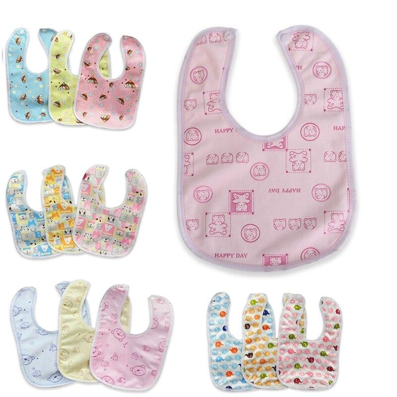 Estilo aleatório babador de bebê veludo impermeável cuidados com o bebê impressão babadores toalha de saliva do bebê toalha
