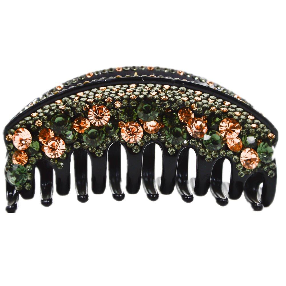 Large Hair Claws for Women Bridge Shape Full Crystal Hair Clip  Hair Wear 10cm