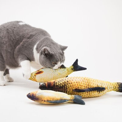 Pez de algodón mascota perro gato juguetes de peluche Artificial forma de pez gatos acolchado juguete Catnip tablero de rascar gato rascador
