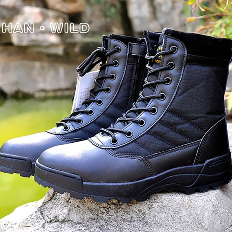Botas táticas militares deserto combate americano botas táticas homens ao ar livre do exército botas