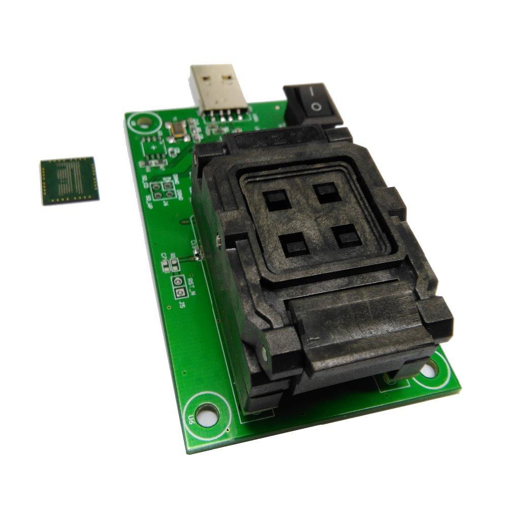 eMCP socket with USB,eMCP programmer,Clamshell,size 14x18mm,for BGA 162 and BGA 186,Support flat bottom