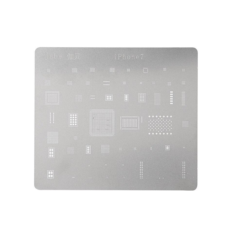 Herramienta de Reparación de placa lógica de teléfono DIYFIX para iPhone 7 6s 6 5S 5 placa base IC Chip Ball red para soldar placa de acero inoxidable