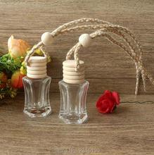6 ML 40 pcs/lot vide bricolage voiture accrocher conteneur de parfum, charmant verre accrocher pendentif décorations, créatif huile essentielle emballage bouteille