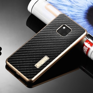 Imatch Real Carbon Fiber amp Aluminum Metal Case For Huawei Mate 20 Pro Luxury Full Protection Back Cover For Huawei Mate 20